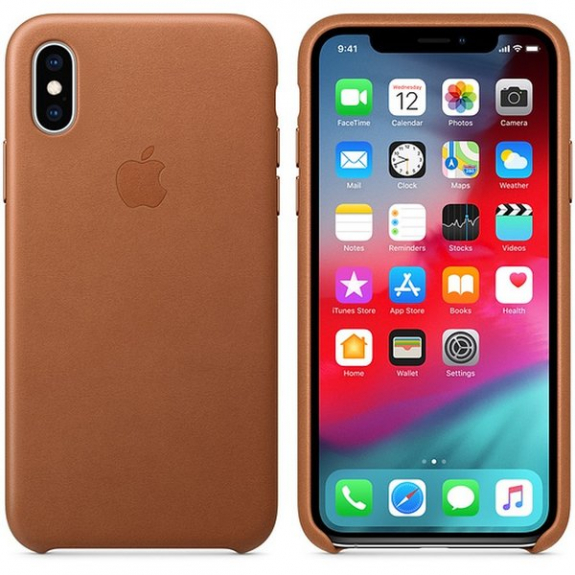 Originální Apple kožené pouzdro pro iPhone XS - sedlově hnědá MRWP2ZM/A - možnost vrátit zboží ZDARMA do 30ti dní