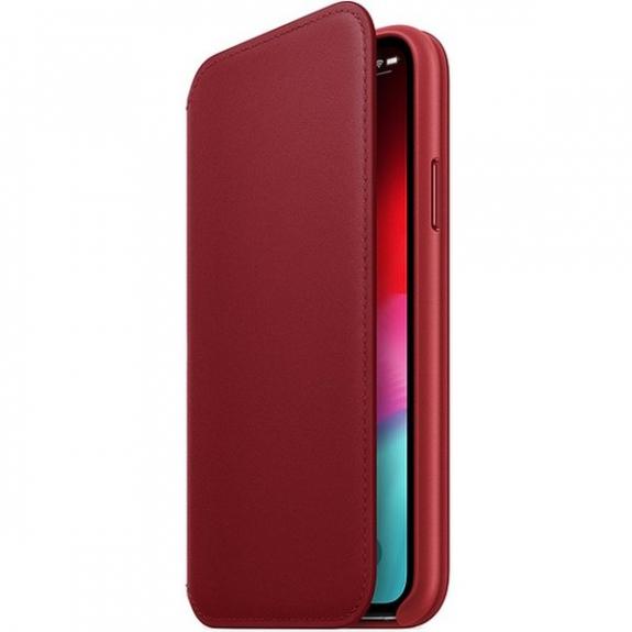 Originální Apple Folio kožené pouzdro pro iPhone XS - červená MRWX2ZM/A - možnost vrátit zboží ZDARMA do 30ti dní