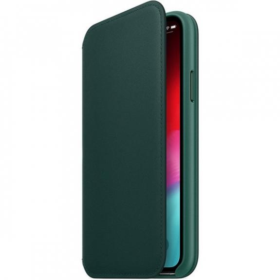 Originální Apple Folio kožené pouzdro pro iPhone XS - piniově zelená MRWY2ZM/A - možnost vrátit zboží ZDARMA do 30ti dní