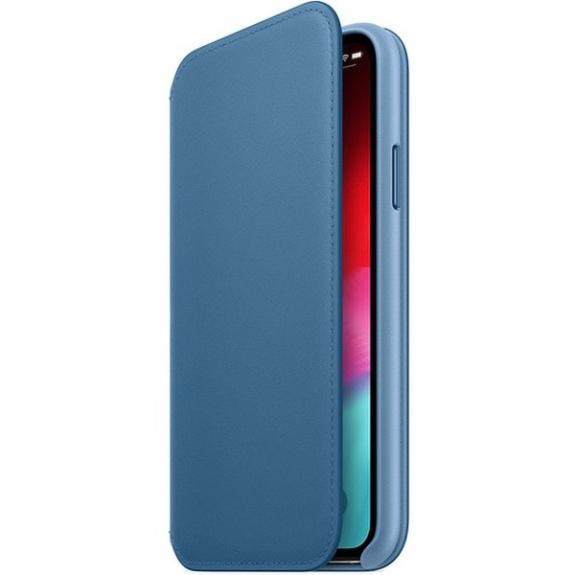 Originální Apple Folio kožené pouzdro pro iPhone XS - modrošedá MRX02ZM/A - možnost vrátit zboží ZDARMA do 30ti dní