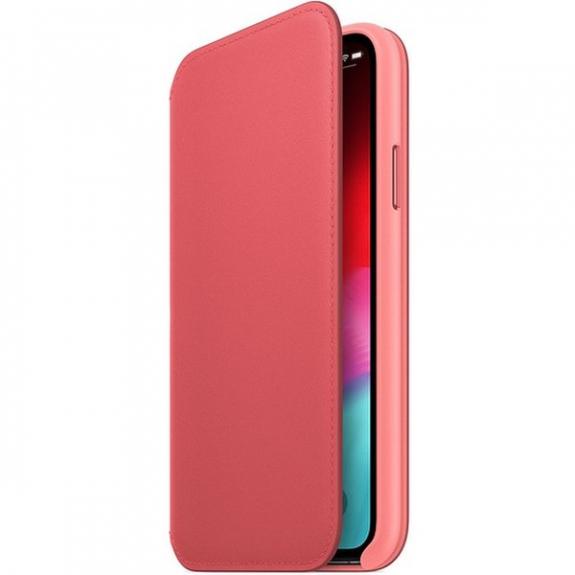 Originální Apple Folio kožené pouzdro pro iPhone XS - pivoňkově růžová MRX12ZM/A - možnost vrátit zboží ZDARMA do 30ti dní