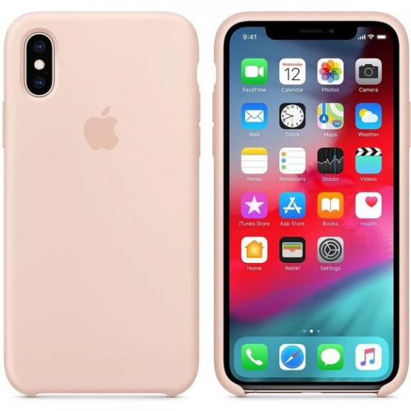 Originální Apple silikonový kryt pro iPhone XS - pískově růžový MTF82ZM/A - možnost vrátit zboží ZDARMA do 30ti dní