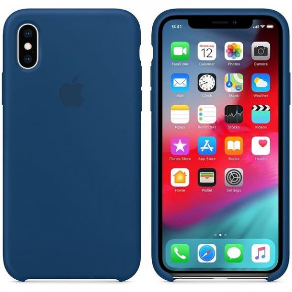 Originální Apple silikonový kryt pro iPhone XS - podvečerně modrá MTF92ZM/A - možnost vrátit zboží ZDARMA do 30ti dní