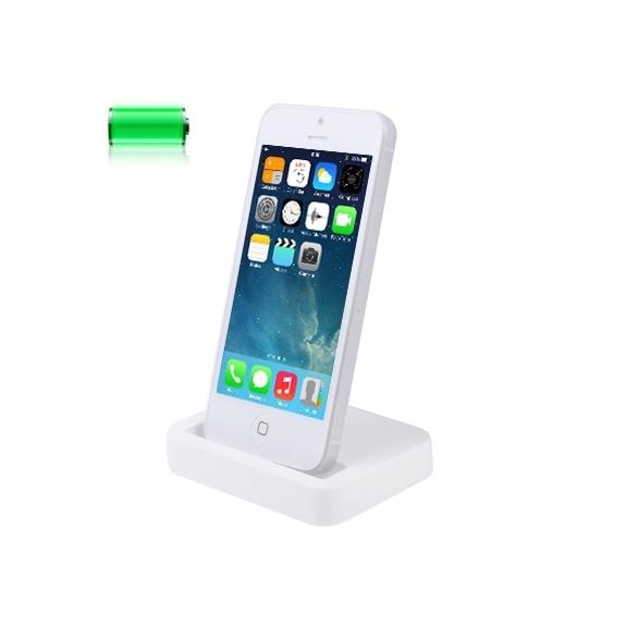 AppleKing dokovací stanice pro iPhone 5 / 5S / SE - bílá - TOP kvalita - možnost vrátit zboží ZDARMA do 30ti dní
