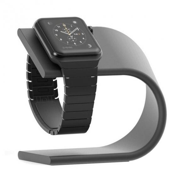 AppleKing hliníkový stojánek ve tvaru U pro Apple Watch - černý - možnost vrátit zboží ZDARMA do 30ti dní