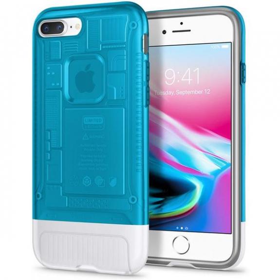 Spigen Classic C1 pouzdro pro Apple iPhone 8 Plus / 7 Plus - modrá 055CS24428 - možnost vrátit zboží ZDARMA do 30ti dní