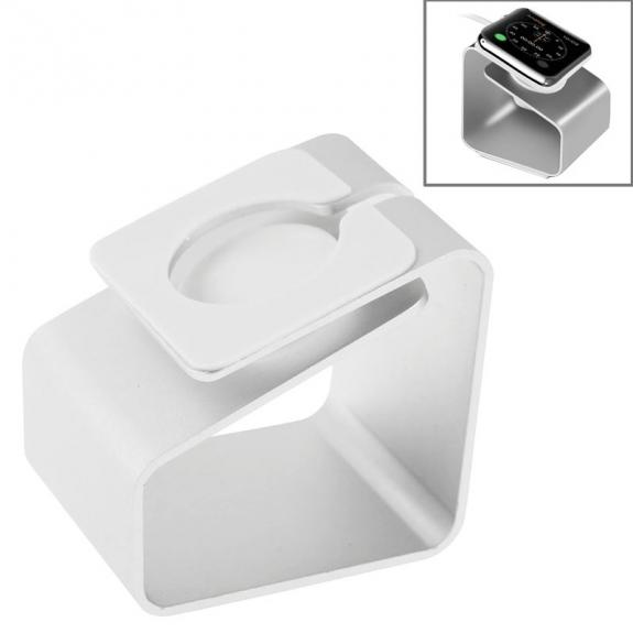 AppleKing napájecí hliníkový stojánek pro Apple Watch 38 / 42mm - stříbrný - možnost vrátit zboží ZDARMA do 30ti dní