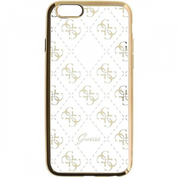 Guess měkké pouzdro pro iPhone 6 / 6S - zlatá - možnost vrátit zboží ZDARMA do 30ti dní