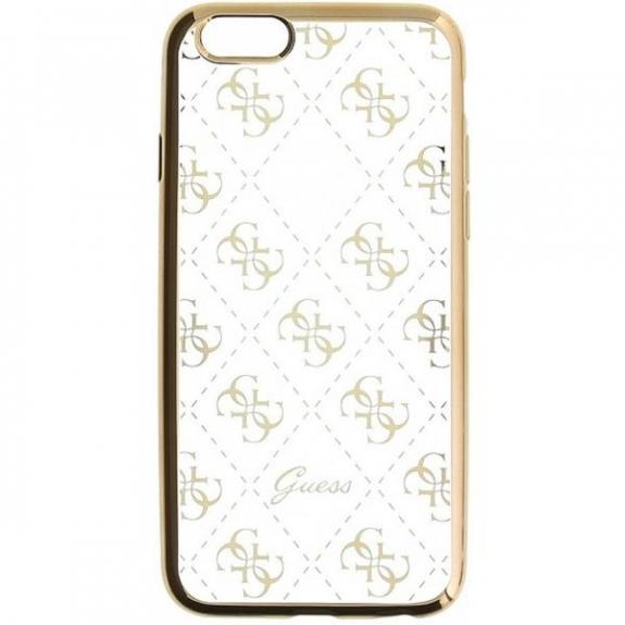 Guess měkké pouzdro pro iPhone 5 / SE / 5S - zlaté GUHCPSETR4GG - možnost vrátit zboží ZDARMA do 30ti dní