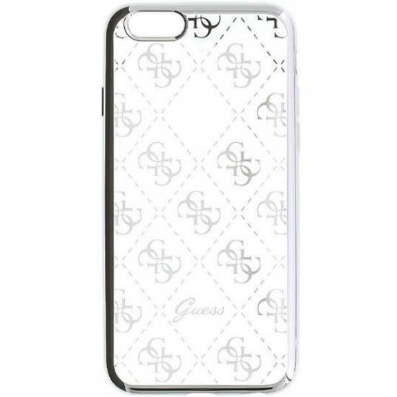 Guess měkké pouzdro pro iPhone SE   5S - stříbrné GUHCPSETR4GSI - možnost  vrátit zboží ZDARMA 82c7f31d44c