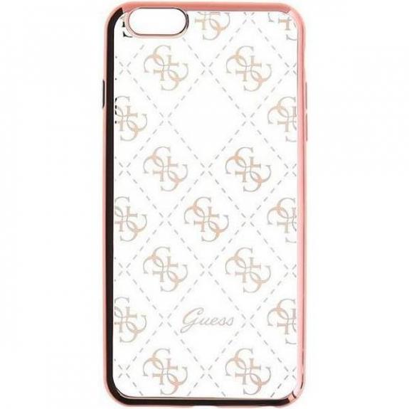 Guess měkké pouzdro pro iPhone SE / 5S - růžové GUHCPSETR4GRG - možnost vrátit zboží ZDARMA do 30ti dní