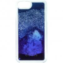Guess Liquid Glitter kryt pro iPhone 6 Plus   6S Plus   7 Plus   8 Plus -  tmavě modrá 60709dbe15d