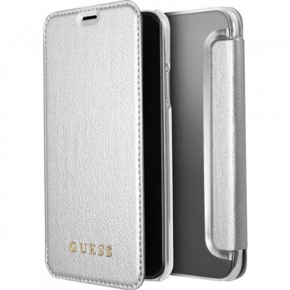 Guess pouzdro pro iPhone X - stříbrné 3700740407820 - možnost vrátit zboží ZDARMA do 30ti dní
