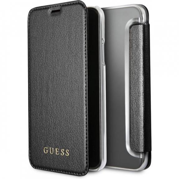Guess Iridescent Book pouzdro pro iPhone X - černá 3700740407868 - možnost vrátit zboží ZDARMA do 30ti dní