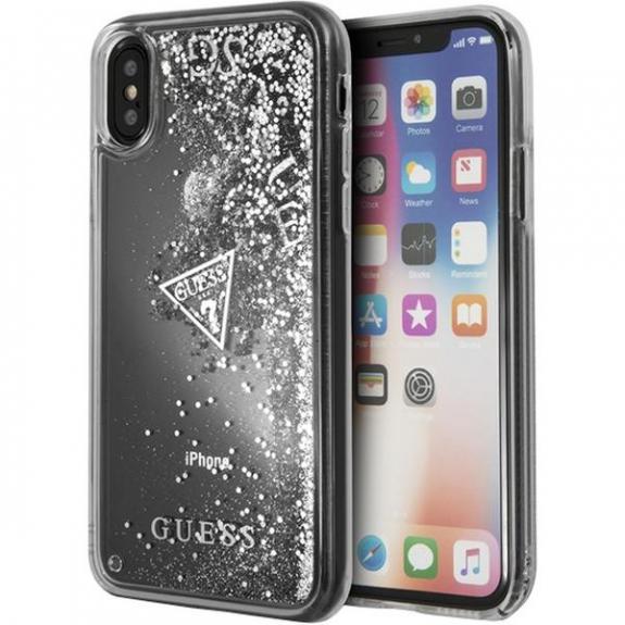 Guess Liquid Glitter pouzdro pro iPhone X - stříbrná 3700740407905 - možnost vrátit zboží ZDARMA do 30ti dní
