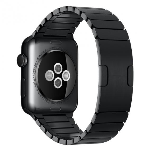 AppleKing luxusní ocelový nerezový řemínek pro Apple Watch 42mm - černý - možnost vrátit zboží ZDARMA do 30ti dní