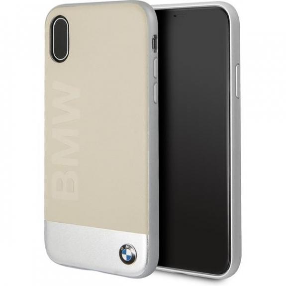 BMW Soft kožené pouzdro pro iPhone X - béžová 3700740409138 - možnost vrátit zboží ZDARMA do 30ti dní