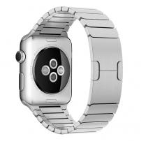 Luxusní ocelový nerezový řemínek pro Apple Watch 44mm / Watch 42mm - stříbrný