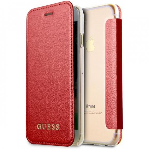 Guess Iridescent Book pouzdro pro iPhone X - červená 3700740413715 - možnost vrátit zboží ZDARMA do 30ti dní