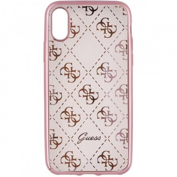 Guess Original kryt pro iPhone X - růžovozlatý 3700740413982 - možnost vrátit zboží ZDARMA do 30ti dní