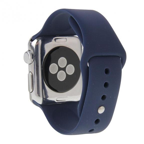 AppleKing silikonový / gumový delší sportovní řemínek pro Apple Watch 42mm – tmavě modrý - možnost vrátit zboží ZDARMA do 30ti dní