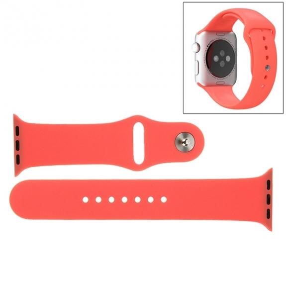 AppleKing gumový delší sportovní řemínek pro Apple Watch 42mm – růžový - možnost vrátit zboží ZDARMA do 30ti dní