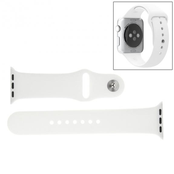 AppleKing silikonový / gumový sportovní řemínek pro Apple Watch 42mm - delší – bílý - možnost vrátit zboží ZDARMA do 30ti dní