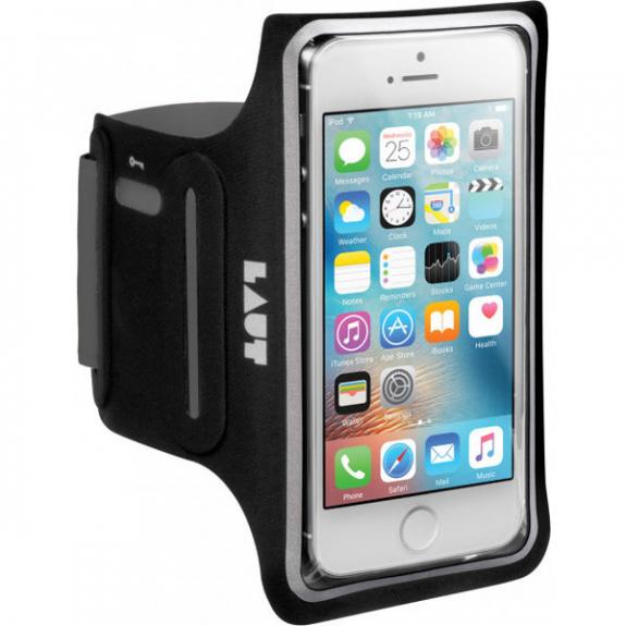 LAUT Slim neoprenové pouzdro na ruku pro Apple iPhone 5 / 5S / SE - černá LAUT-EL-IP5-BK - možnost vrátit zboží ZDARMA do 30ti dní