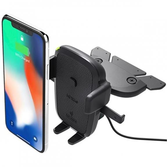 iOttie Easy One Touch 4 univerzální držák do zdířky CD s Qi bezdrátovým nabíjením - černý HLCRIO136 - možnost vrátit zboží ZDARMA do 30ti dní