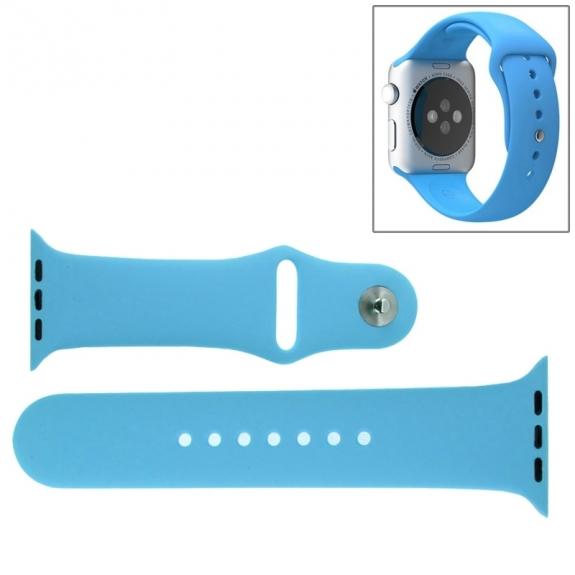 AppleKing silikonový / gumový sportovní řemínek pro Apple Watch 38mm - modrý - možnost vrátit zboží ZDARMA do 30ti dní