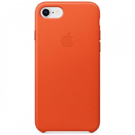 Originální Apple kožené pouzdro pro iPhone 8 / 7 - jasně oranžová MRG82ZM/A - možnost vrátit zboží ZDARMA do 30ti dní