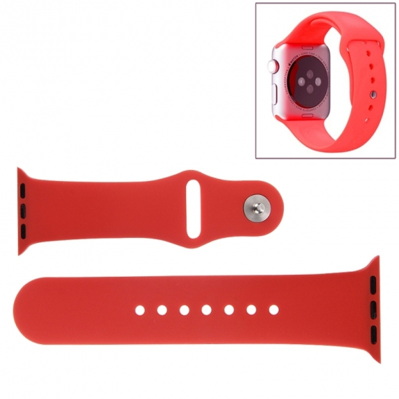 AppleKing silikonový / gumový sportovní řemínek pro Apple Watch 38mm - červený - možnost vrátit zboží ZDARMA do 30ti dní