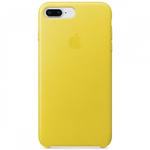 Originální Apple kožené pouzdro pro iPhone 8 Plus   7 Plus - jarně žlutá  MRGC2ZM  de1a03e425a