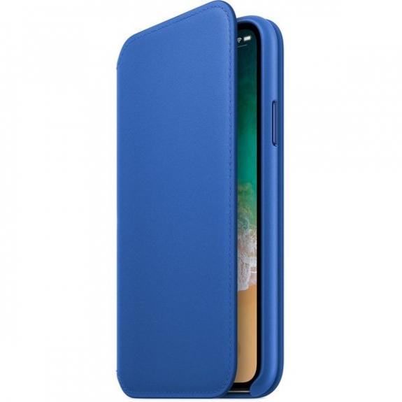 Originální Apple Folio kožené pouzdro pro iPhone X - elektro modrá MRGE2ZM/A - možnost vrátit zboží ZDARMA do 30ti dní