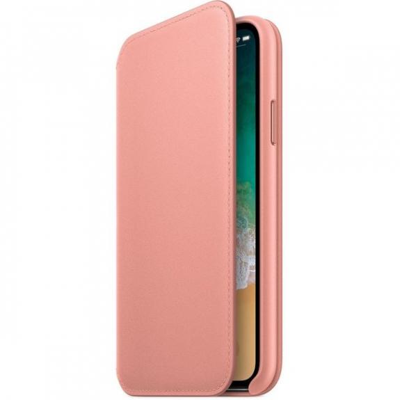 Originální Apple Folio kožené pouzdro pro iPhone X - bledě růžová MRGF2ZM/A - možnost vrátit zboží ZDARMA do 30ti dní
