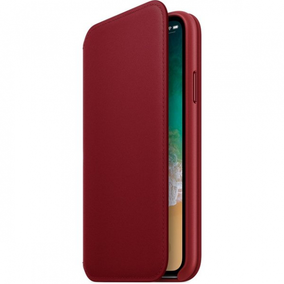 Originální Apple Folio kožené pouzdro pro iPhone X -červená MRQD2ZM/A - možnost vrátit zboží ZDARMA do 30ti dní