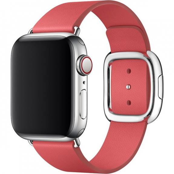 Originální kožený řemínek s moderní přezkou pro Apple Watch 40mm / 38mm - vel. L - pivoňkově růžová MTQR2ZM/A - možnost vrátit zboží ZDARMA do 30ti dní