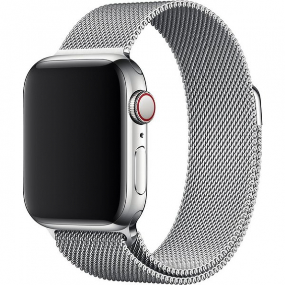 Originální řemínek milánský tah pro Apple Watch 44mm / 42mm - stříbrná MTU62ZM/A - možnost vrátit zboží ZDARMA do 30ti dní