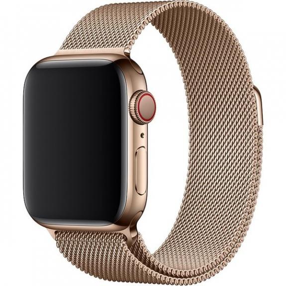 Originální řemínek milánský tah pro Apple Watch 44mm / 42mm - zlatá MTU72ZM/A - možnost vrátit zboží ZDARMA do 30ti dní
