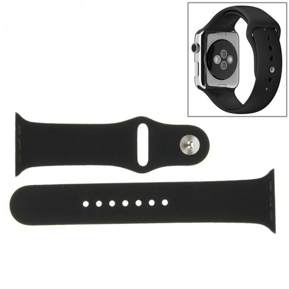 AppleKing silikonový / gumový sportovní řemínek pro Apple Watch 42mm - černý - možnost vrátit zboží ZDARMA do 30ti dní
