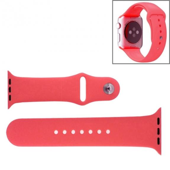 AppleKing silikonový / gumový sportovní řemínek pro Apple Watch 42mm - růžový - možnost vrátit zboží ZDARMA do 30ti dní
