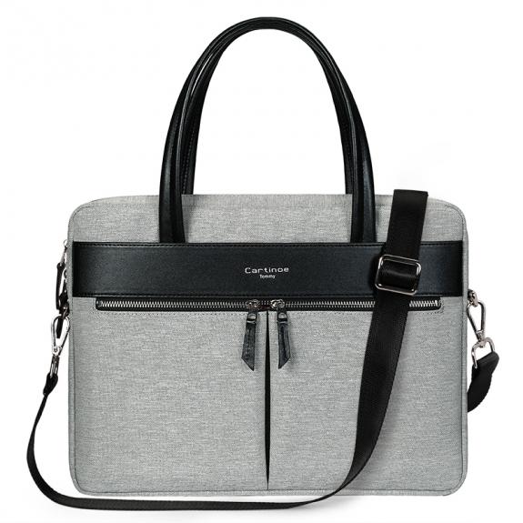 """Cartinoe stylová kabelka pro MacBookPro 15,4"""" - šedá - možnost vrátit zboží ZDARMA do 30ti dní"""