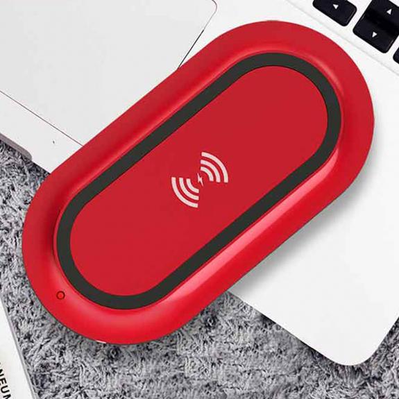 TOTUDESIGN bezdrátová Qi nabíječka pro iPhone - červená - možnost vrátit zboží ZDARMA do 30ti dní