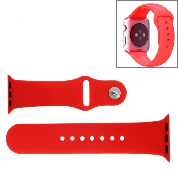 AppleKing silikonový / gumový sportovní řemínek pro Apple Watch 42mm - červený - možnost vrátit zboží ZDARMA do 30ti dní