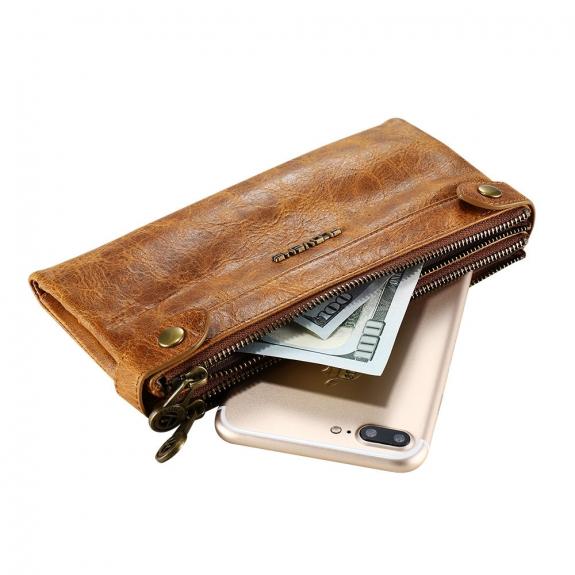FLOVEME univerzální kapsa na zip pro iPhone - hnědá - možnost vrátit zboží ZDARMA do 30ti dní
