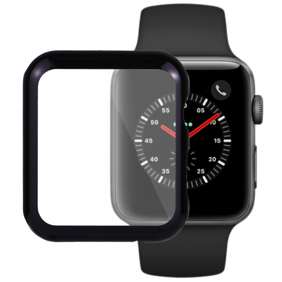 AppleKing pouzdro s ochrannou displeje pro Watch 38mm (2. / 3. gen.) - černá - možnost vrátit zboží ZDARMA do 30ti dní