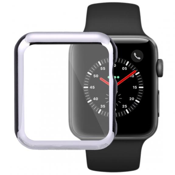 AppleKing pouzdro s ochranou displeje pro Watch 42mm (2. / 3. gen.) - stříbrná - možnost vrátit zboží ZDARMA do 30ti dní
