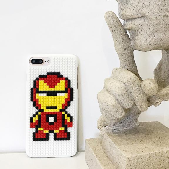 AppleKing kryt ve stylu stavebnice pro iPhone 7 Plus / 8 Plus - Iron Man - možnost vrátit zboží ZDARMA do 30ti dní