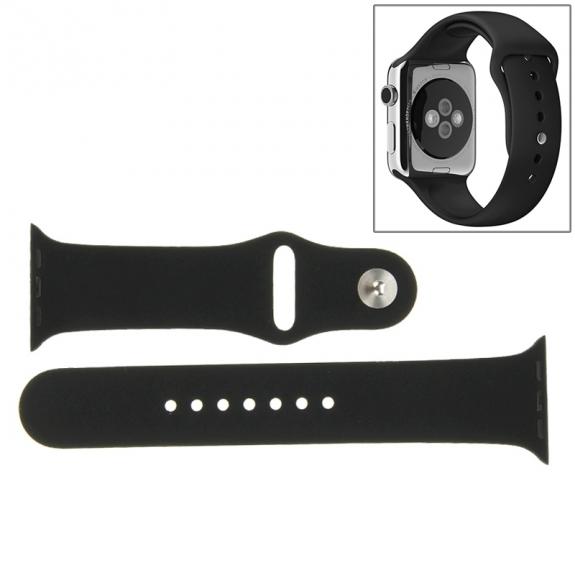 AppleKing gumový delší řemínek pro Apple Watch 38mm - černý - možnost vrátit zboží ZDARMA do 30ti dní