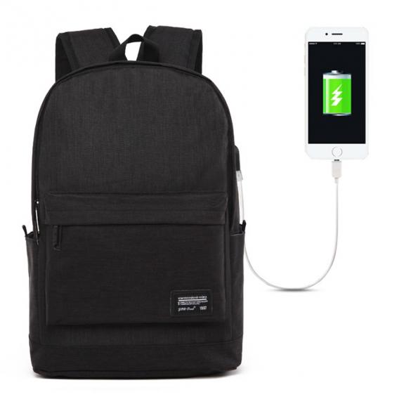 AppleKing univerzální batoh s externím USB portem (45x31x16cm) - černá - možnost vrátit zboží ZDARMA do 30ti dní